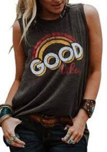 Good Vibes Rainbow Tank Top Women T-Shirt