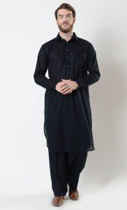 Mens Basic Cotton Shalwar Kameez Set