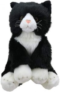 Black and White Cat Plush Soft Toy