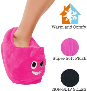 Funny Novelty Emojis Poo Slippers Soft Gift Toy