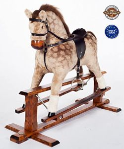 MJmark Handmade Rocking Horse Cuddly Soft Toy