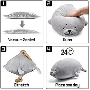 Seal Soft Cuddly Pillow Cute Animal Stuffed Toy