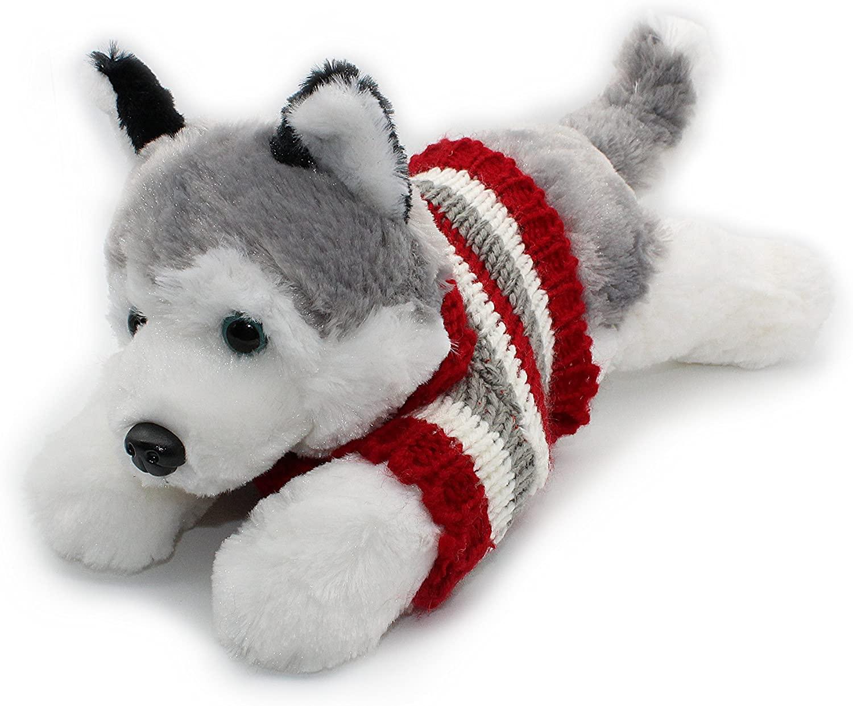 Siberian Husky Plush Puppy Soft Toy