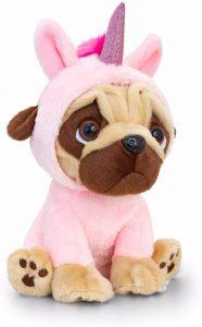 Unicorn Pug Dog Soft Toy