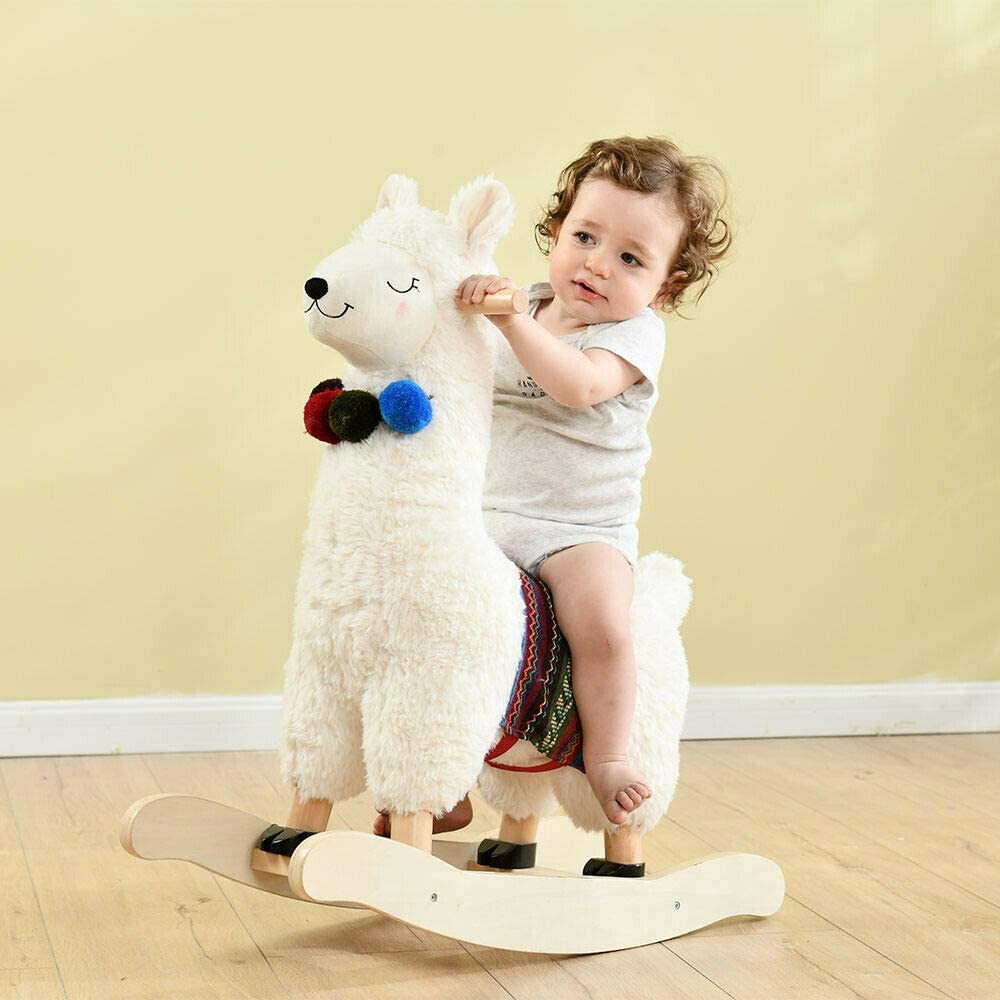 Wooden Toddler Rocker Soft Plush Toy
