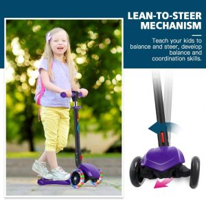 BELEEV Folding 3 Wheel Kick Scooter for Kids