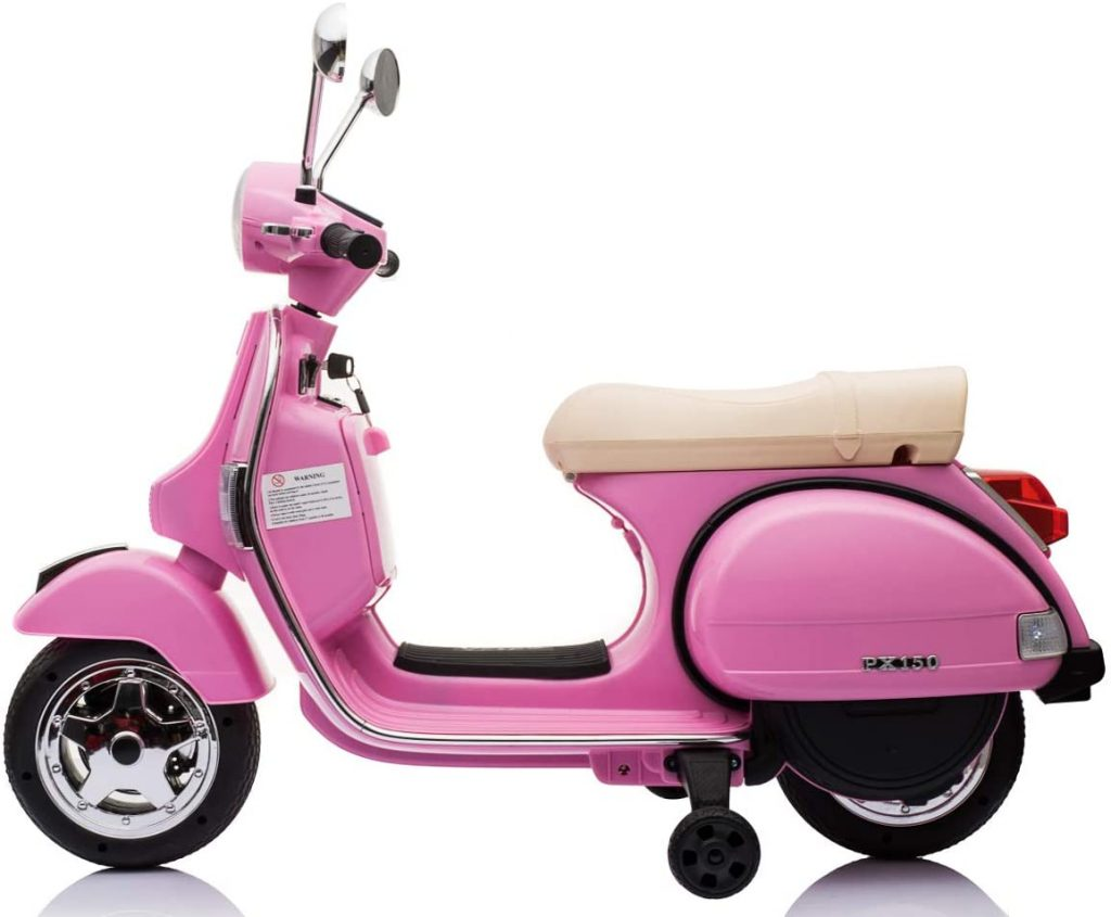 ES-TOYS Children Electric Motorcycle Scooter Vespa