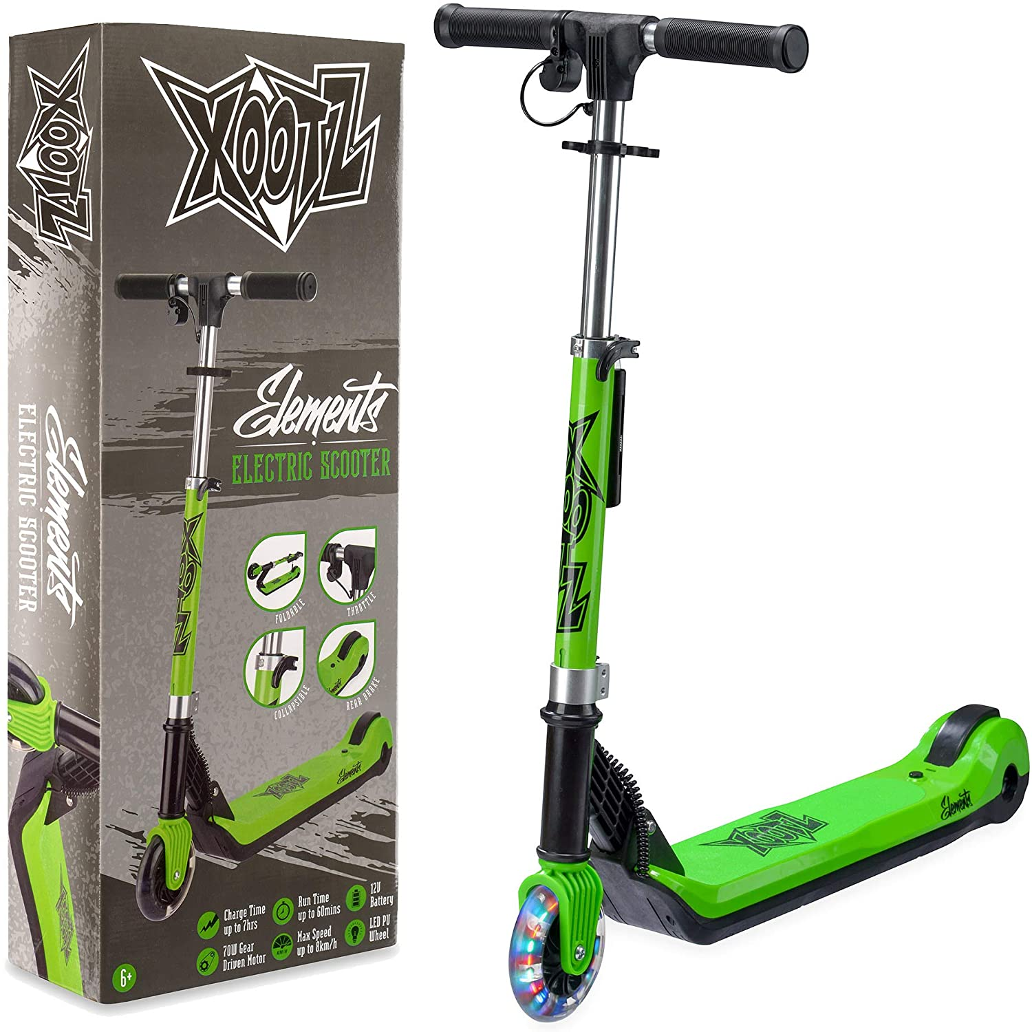 Kids Electric Scooter Folding with LED Light Up Wheel