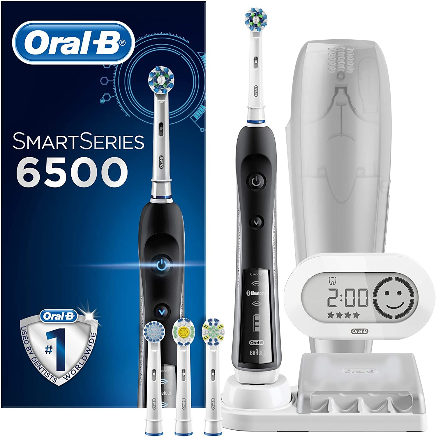 Oral-B SmartSeries Black 6500 CrossAction Electric Toothbrush