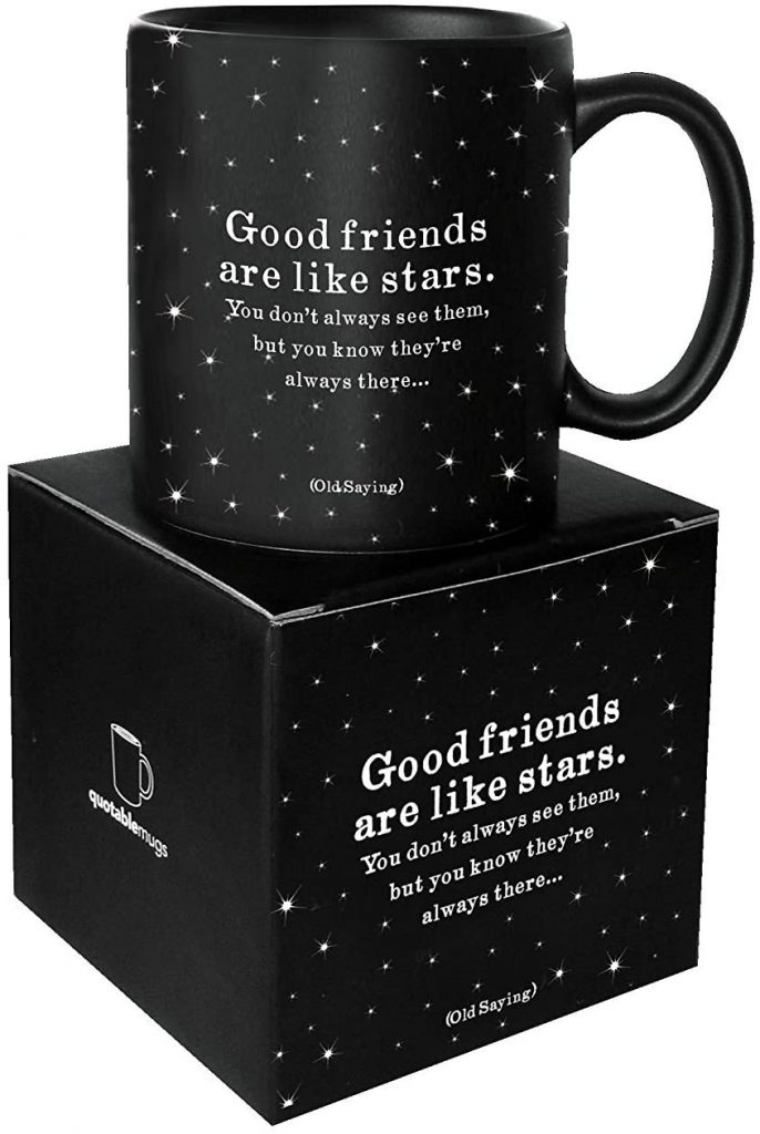 Quotable Good Friends are Like Stars Best Gift Ideas in UK