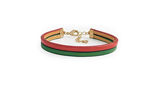 SENLLY Hand Painted Genuine Italian Leather Bracelet
