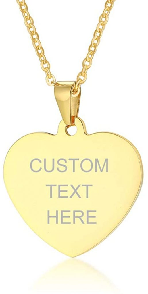 VNOX Gold Heart Necklace