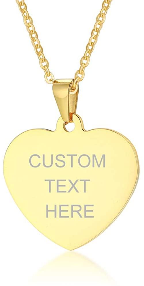 VNOX Customisable Gold Heart Necklace