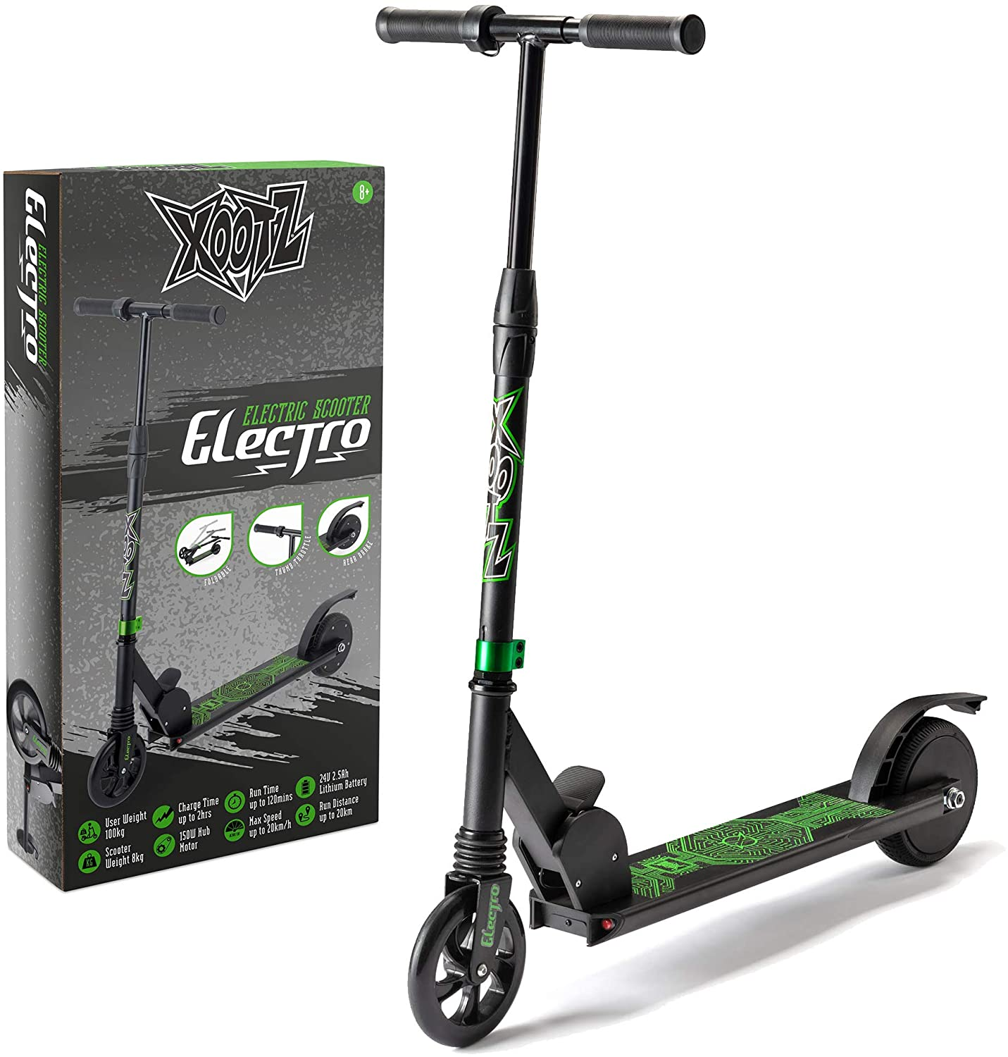 Xootz Folding Electric Scooter for Adults and Kids