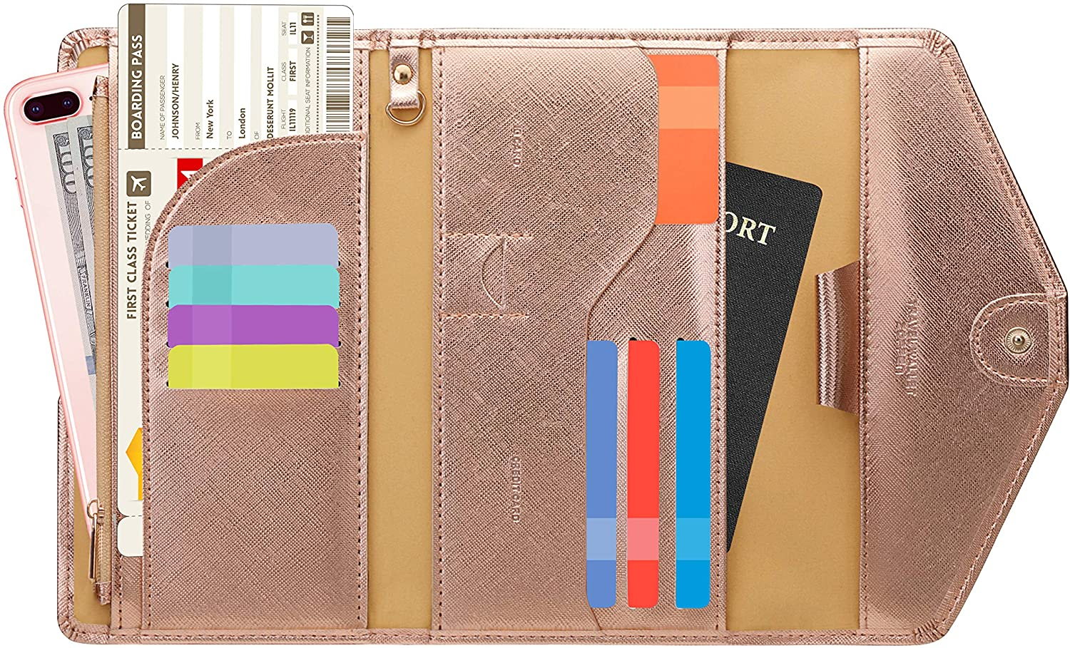 Zoppen Multi-Purpose RFID Passport Wallet