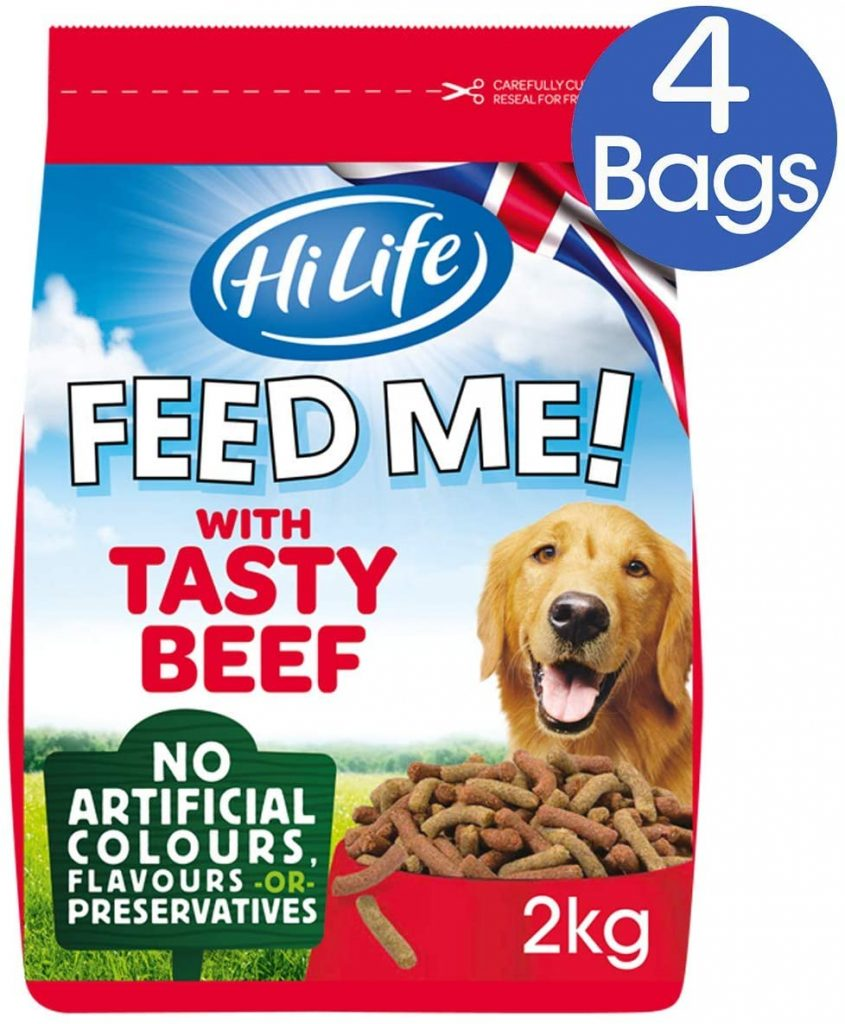 Dog Food Beef and Fresh Vegetables with Cheese