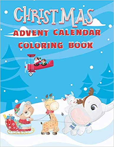Christmas Advent Calendar Coloring Book