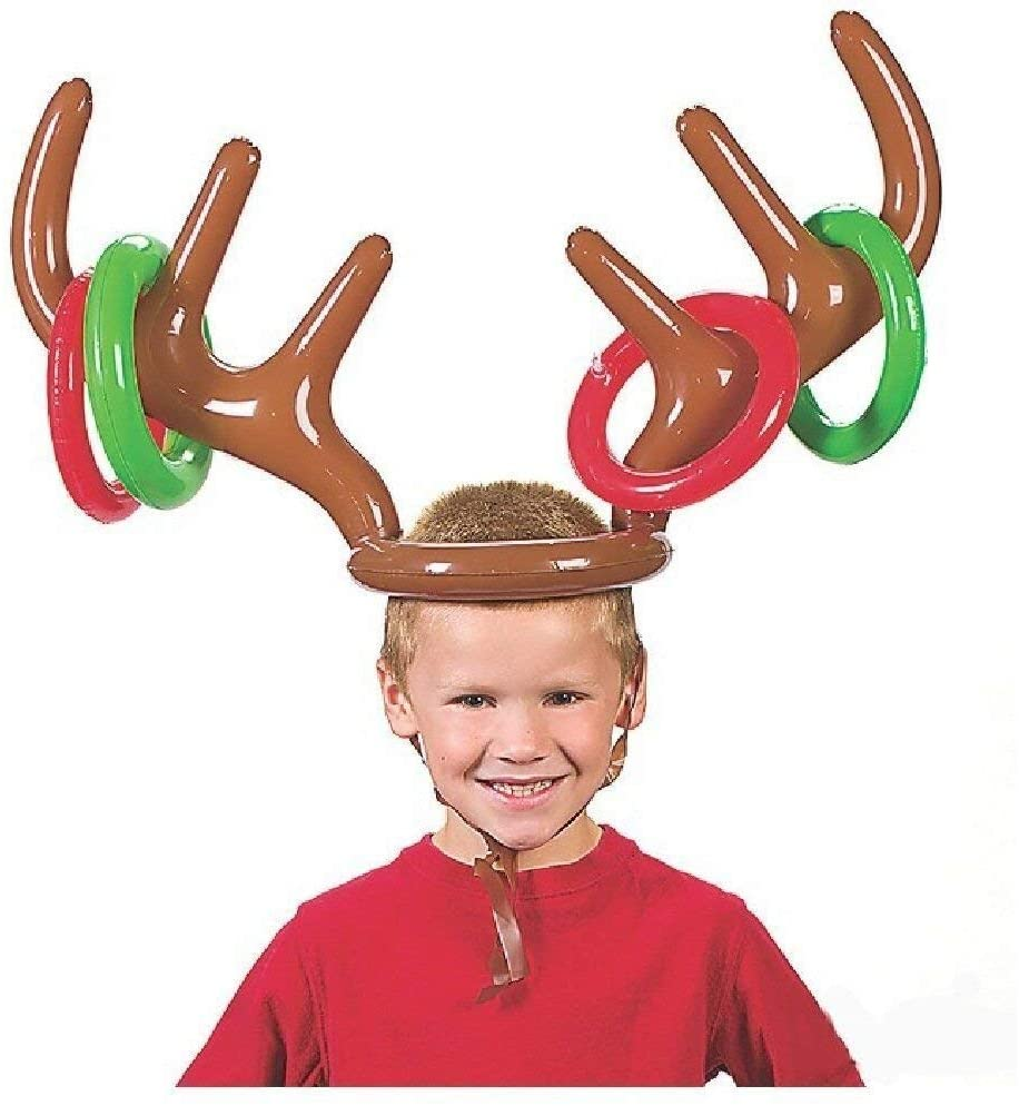 Christmas Reindeer Antler Hat with Rings for Kids
