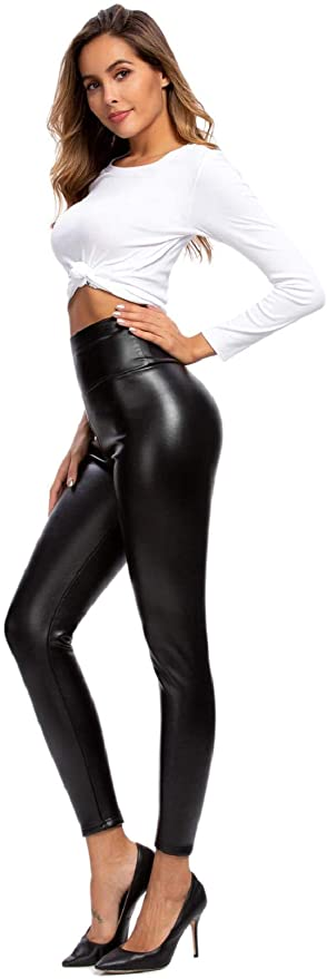 High Waisted Faux Leather PU Leggings