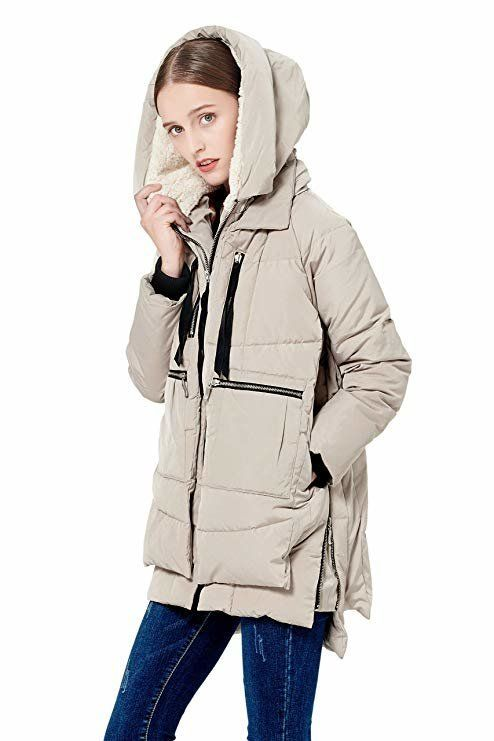 Orolay Women's Thickened Down Jacket Hooded Coat