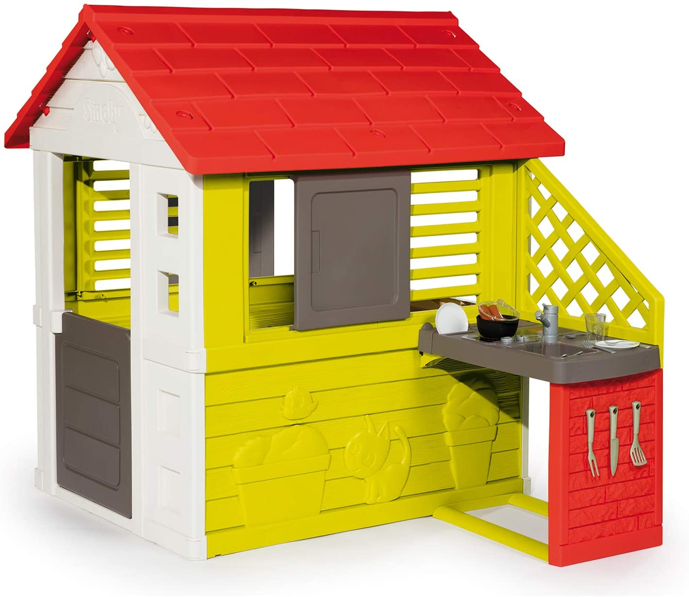 Smoby Nature II Childrens House with Kitchen and Accessories 2