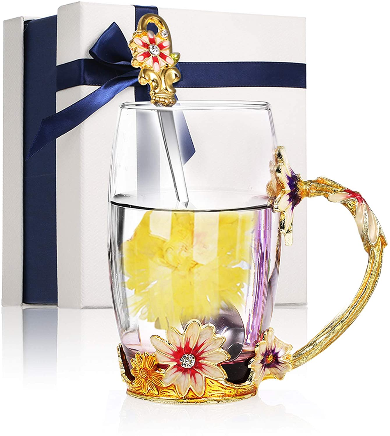 Decdeal Flower Tea Cup