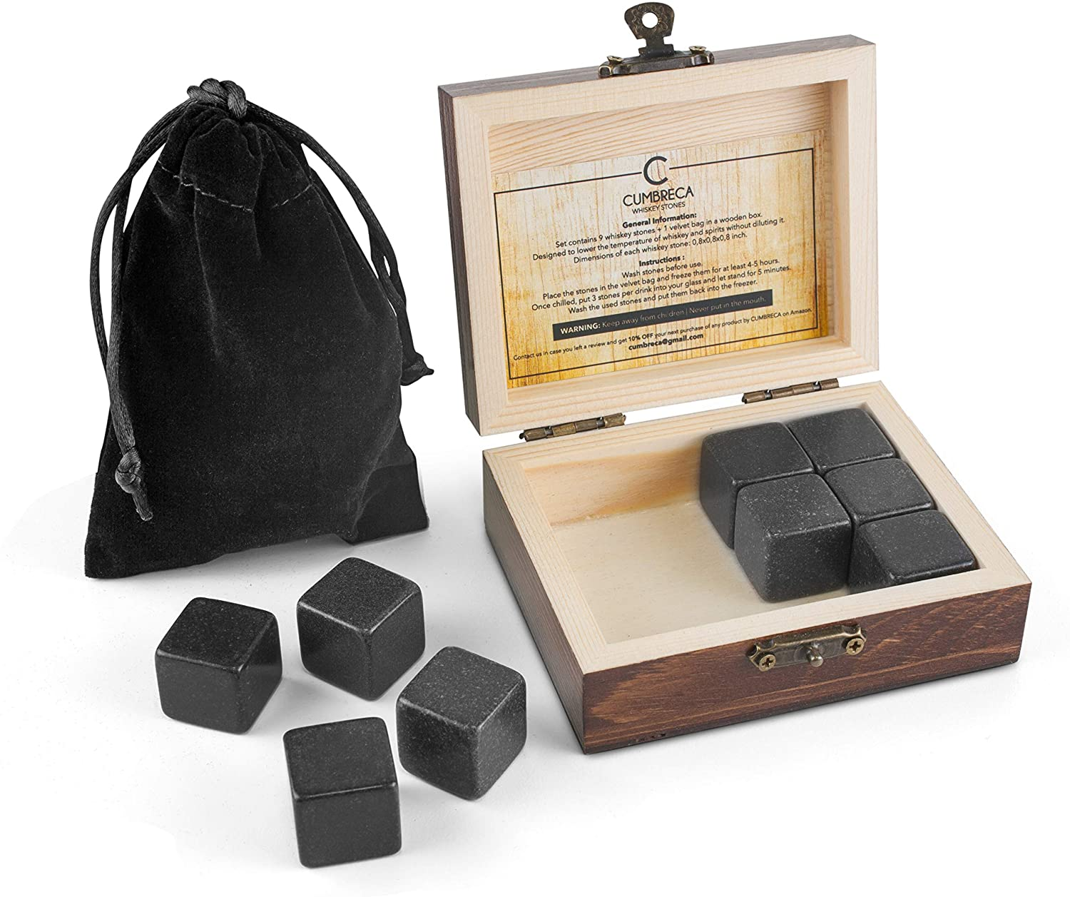 Gift Set Of Cumbreca Whiskey Stones