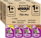 Whiskas Wet Food Pouches, Delicious and Tasty Poultry Selection in Jelly For Cats