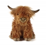 Highland Cow Soft Toy With Sound by Living Nature