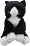 Black and White Cat Plush Soft Toy by Wilberry