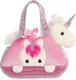 Fancy White & Pink Unicorn Gift Soft Cuddly Toy by Aurora