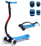 LBLA Arkmiido Kick Scooter for Kids with Protective Gear
