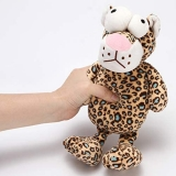 HOLECO Leopard Dog Plush Soft Toy