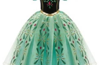 OBEEII Anna Frozen Costume Princess Elsa Snow Queen Dress