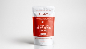 Organic Plant-Based Strawberry Basil Protein Powder by Plant Era