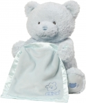 Peek a Boo Bear Mothercare Blue Soft Toy UK