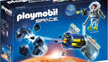 Playmobil Space Satellite Meteoroid Laser with Working Cannon