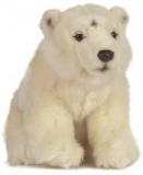 Plush Polar Bear Cuddly Toy by Living Nature