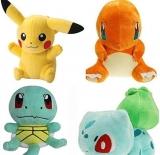Pokemon Plush Toys Set of Pikachu, Bulbasaur, Squirtle, Charmander
