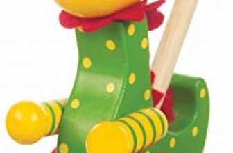 Push Along Wooden Toy Dinosaur Soft Plush Toy