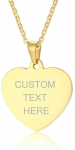 VNOX Customisable Gold Heart Necklace