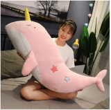 Super Lovely Unicorn Whale Sea Animal Big Whale Stuffed Animal Fish Lovely Children's Birthday Gift For Girls
